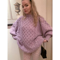 arm volume cable knit  lavender