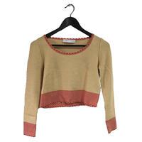 miu miu piping design summer knit tops