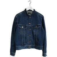 Lee neck cut off denim jacket