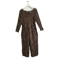 brown  flower rompers
