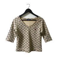 Burberry V neck tops