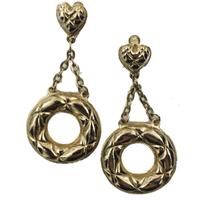 heart quilting earrings