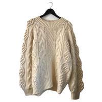 ponpon cable knit
