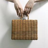 picnic bucket bag brown