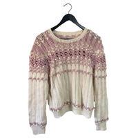 pon pon spring knit pink