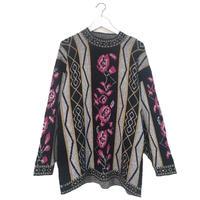 rose design knit