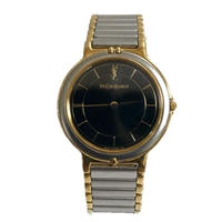 Yves Saint Laurent logo Watch black