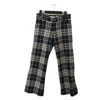 wool tweed check pants