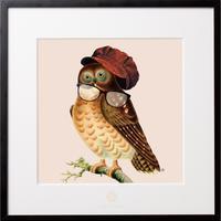 No.0013 「Owl glasses」フクロウのメガネ aluminum flame