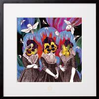 No.0041 「Three women」3人の女性たち aluminum flame