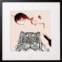 No.0007 「Surprised tiger」 驚いたトラaluminum flame