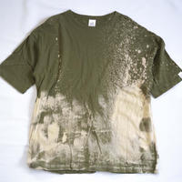 """TEN""タイダイWIDE Tシャツ <040> Olive *ポケット付  size:  L"