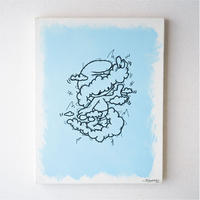 artwork「もやもやとあのこ」 -sky blue-