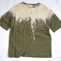 """TEN""タイダイWIDE Tシャツ <038> Olive *ポケット付  size:  L"