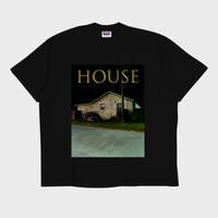 ER-04/ HOUSE (家) T-SHIRT / BLACK