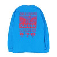 SAIMIN L/S TEE / BLUE