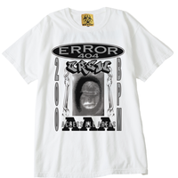 ERROR404 CREW AAA  T-SHIRT/ WHITE