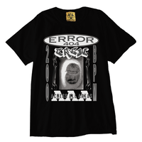 ERROR404 CREW AAA  T-SHIRT/ BLACK