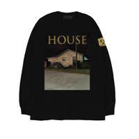 HOUSE (家) L/S TEE / BLACK