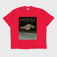 ER-04/ HOUSE (家) T-SHIRT / RED