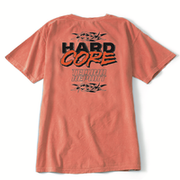 HARDCORE TECHNO REPORT T-SHIRT/ CORAL
