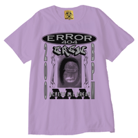 ERROR404 CREW AAA  T-SHIRT/ PURPLE