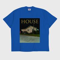 ER-04/ HOUSE (家) T-SHIRT / BLUE