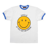 SMILE RINGER TEE/ BLUE【即納】