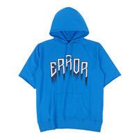 HORROR SHORT SLEEVE HOODIE / BLUE