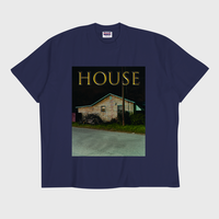 ER-04/ HOUSE (家) T-SHIRT / NAVY