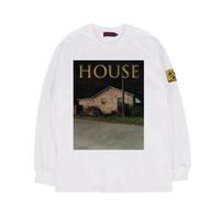 HOUSE (家) L/S TEE / WHITE