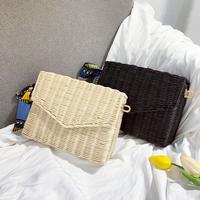 【EruMon】カゴ編みチェーンバッグ カゴバッグ かごバッグ クラッチバッグ スクエアバッグ