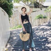 【EruMon】かぎ編みビキニ 4点セット ワイドパンツ 水着 スイムウェア