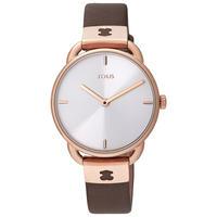 腕時計 Let ピンク・シルバー / スチール・ブラウンレザーベルト(000351475)