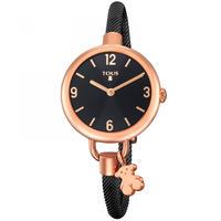 腕時計 Holdブラック ベルト:ステンレススチール / ピンクゴールドコーティング / 30mm(700350225)