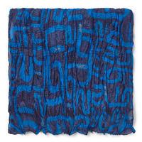 スカーフ Doromy Plis ブルー / プリーツ / 長方形(095920279)