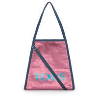 ショッピングバッグ Colors フューシャピンク・ジーンズ / スパンコール(095890829)