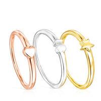 リング  Ring Mix  3連セット  シルバー925 3色 12号【018165530】
