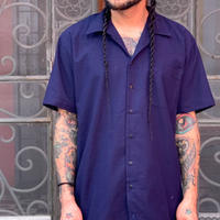 "[ESG-C03S-MAR]  S/S GUAYABERA "" OPEN COLOR  "" MARINO(NAVY)"