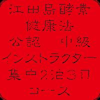中級インストラクター講座 集中2泊3日の講座受講料  55.000円   (テキスト、 材料代、修了証書込みです。)