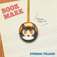 「黄色い目をしたネコのクリップ型ブックマーク」no.136