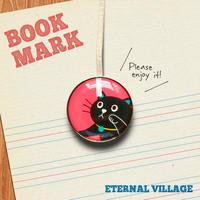 「かまってほしい黒ネコのクリップ型ブックマーク」no.153