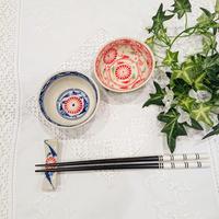バッチャン焼き  小椀皿   菊柄  青色