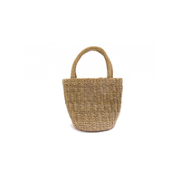 アガルの手編みバッグ(小)  Agar plants handwoven basket (S)