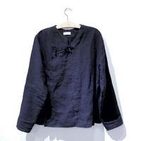 旗袍上衣(ネイビー)Qipao Jacket (Navy)