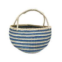 ワイルドバナナバスケット(ブルー)  Wild banana basket (Blue)