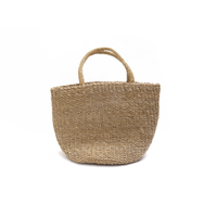 アガルの手編みバッグ(大)  Agar plants handwoven basket (L)
