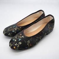 台南刺繍靴(ブラック)Embroidery shoes (Black)