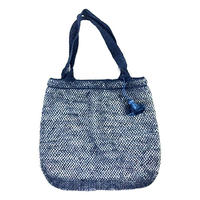 葛トートバッグ(ダークブルー)Kudzu Tote Bag (Dark Blue)