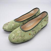 台南刺繍靴(グリーン)Embroidery shoes (Green)
